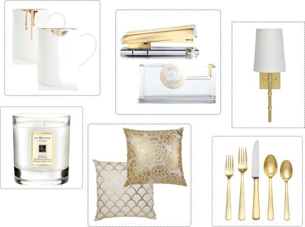 Top picks for Gold Home Accessories via MissSophisticate.com #gold #home #accessories #decor #design #interiors #house #misssophisticate