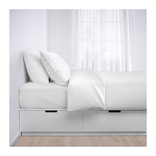 Nordli Sangstomme Med Forvaring Vit 90x200 Cm Ikea Single Bed Frame Ikea Bed Frame With Storage Ikea Bed