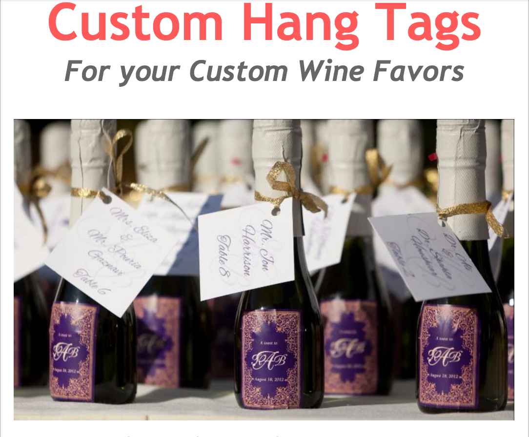 We are very pleased to announce you can now add CUSTOM HANG TAGS to ...