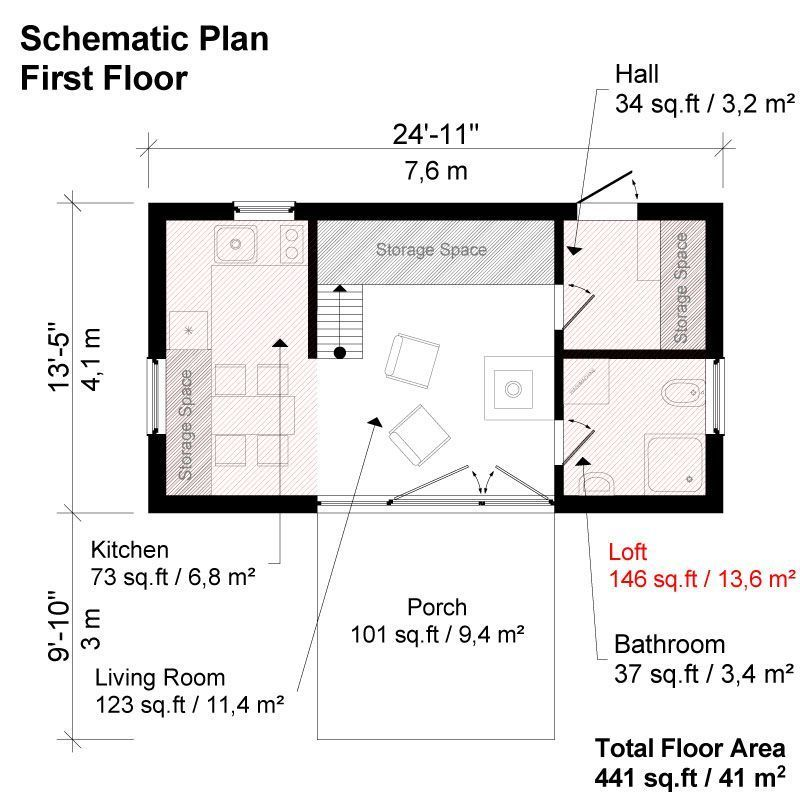 Two Bedroom Modern House Plans Modern house plans, House