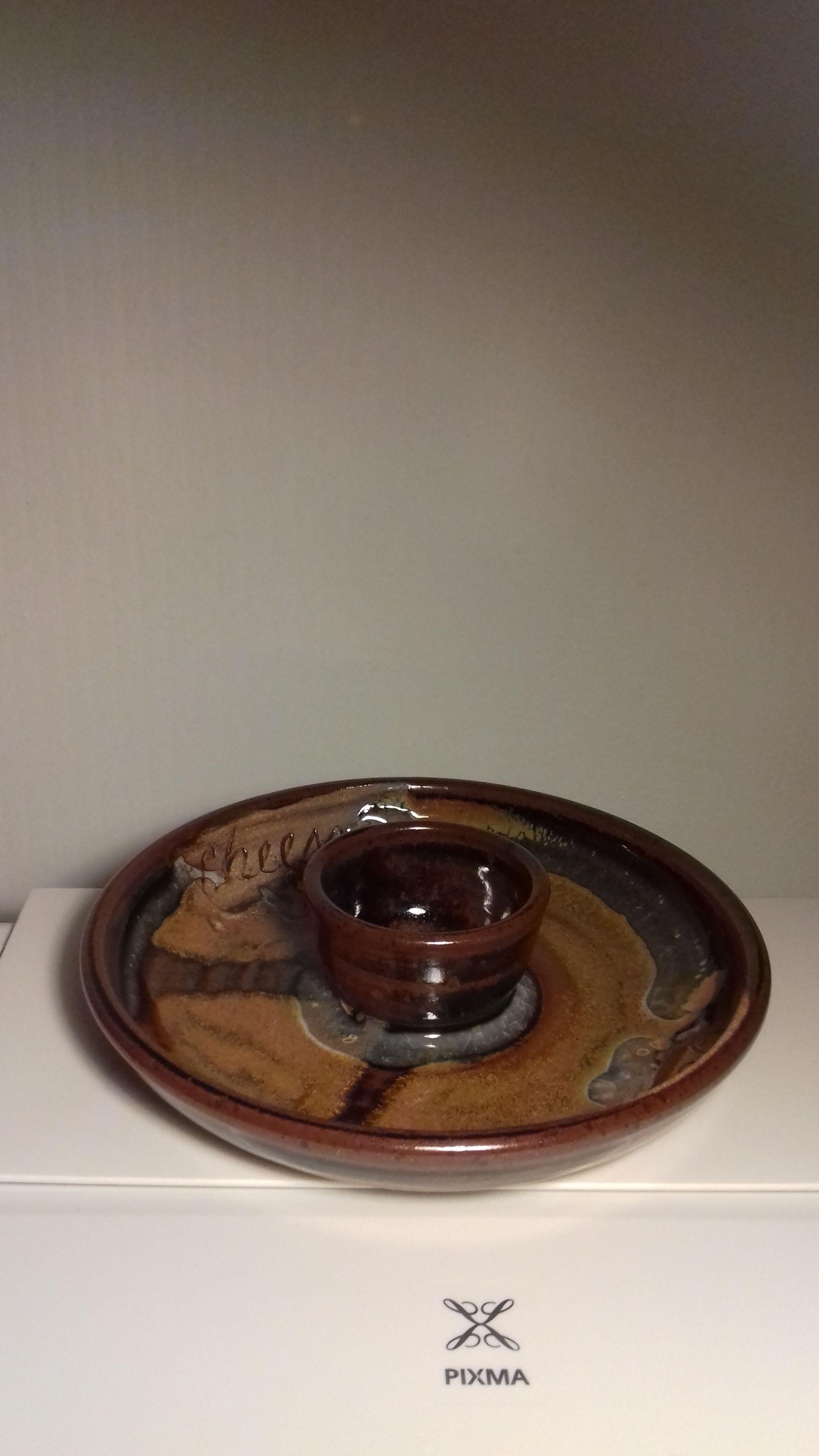 Piring Platter Terakota Stamped Australia Vintage Plates Plates Tableware