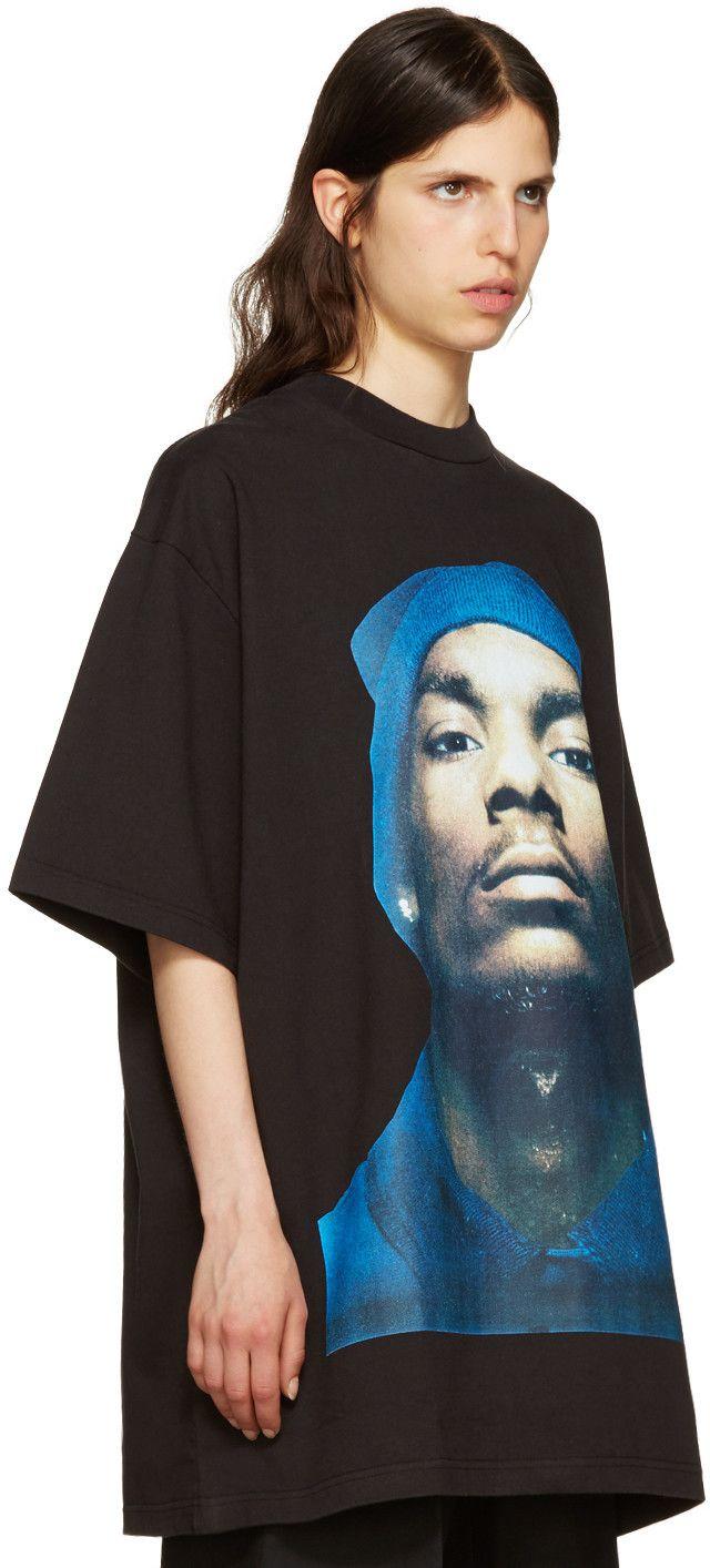025b6bd34c210 Vetements - Black Snoop Dogg T-Shirt | merch ideas | Shirts, Mens ...
