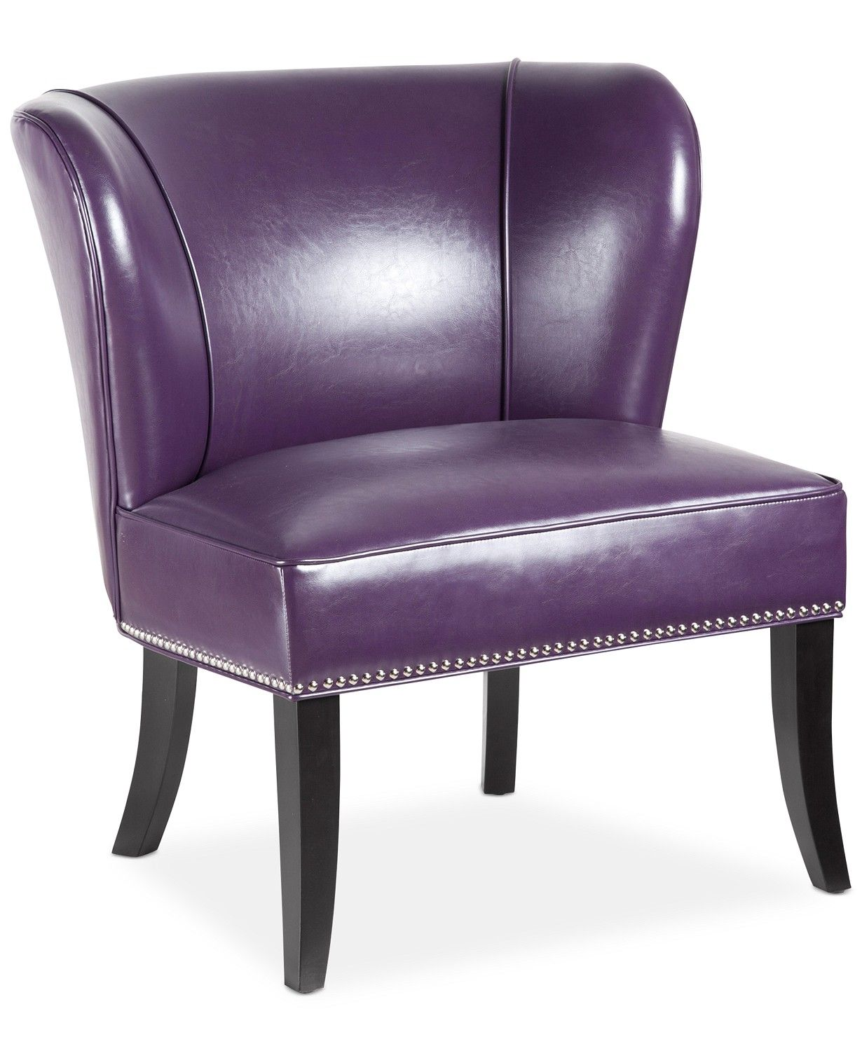 Furniture Janie Faux Leather Accent Chair & Reviews ...