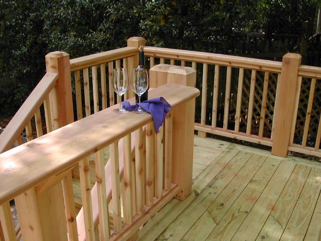Cedar Deck Railing Ideas Pictures Of Decks Deck Designs