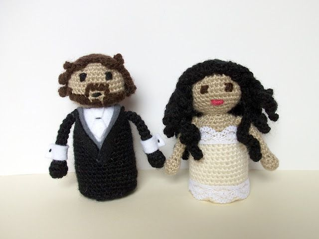 Amigurumis personalizados - novios - groom and bride | Noviogurumis ...
