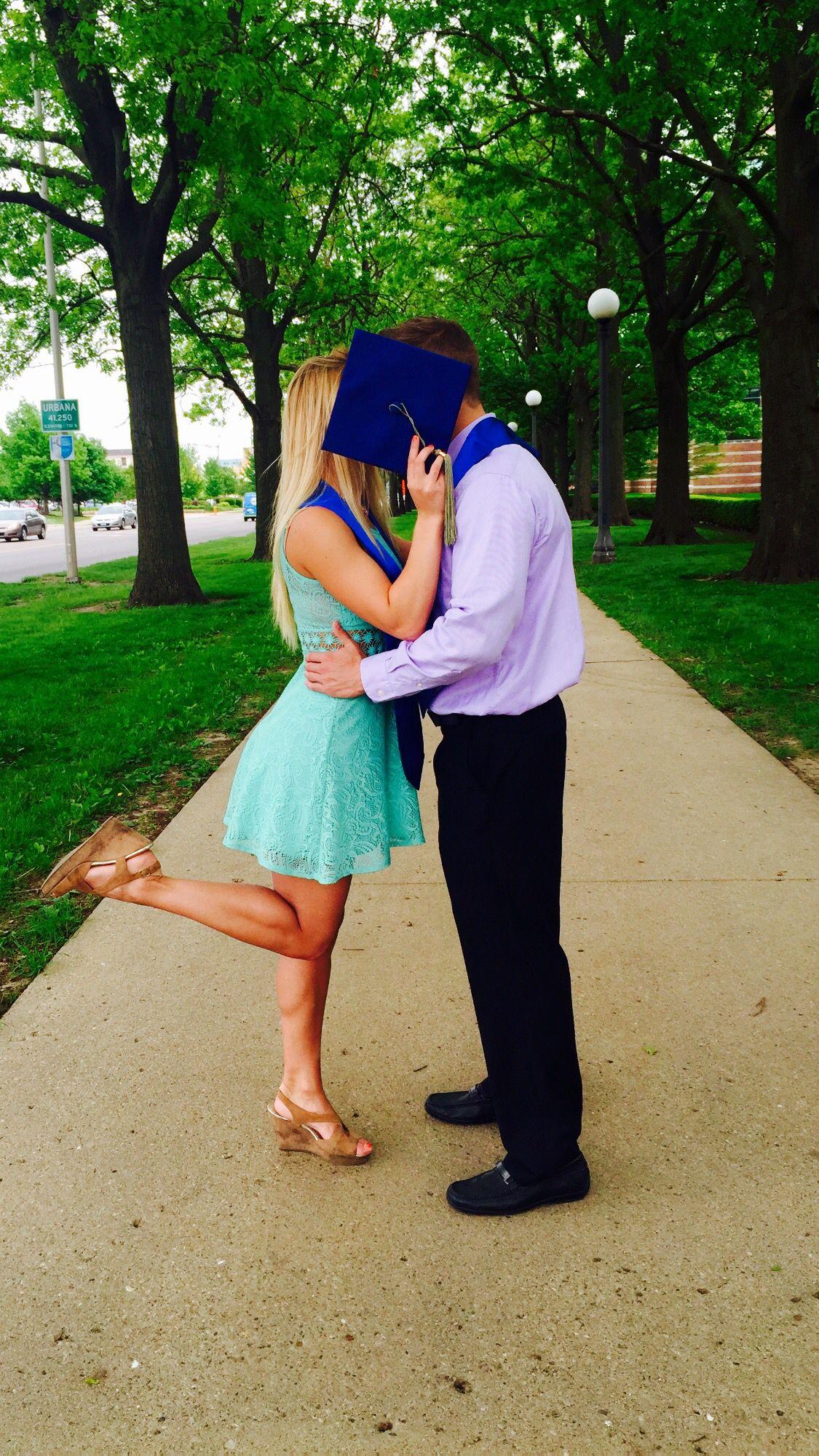freshman boy dating senior girl poses