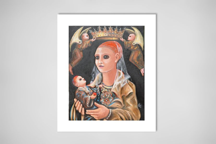 "Saatchi Online Artist: paolo figar; Oil, 2013, Painting ""Madonna con bambino"""