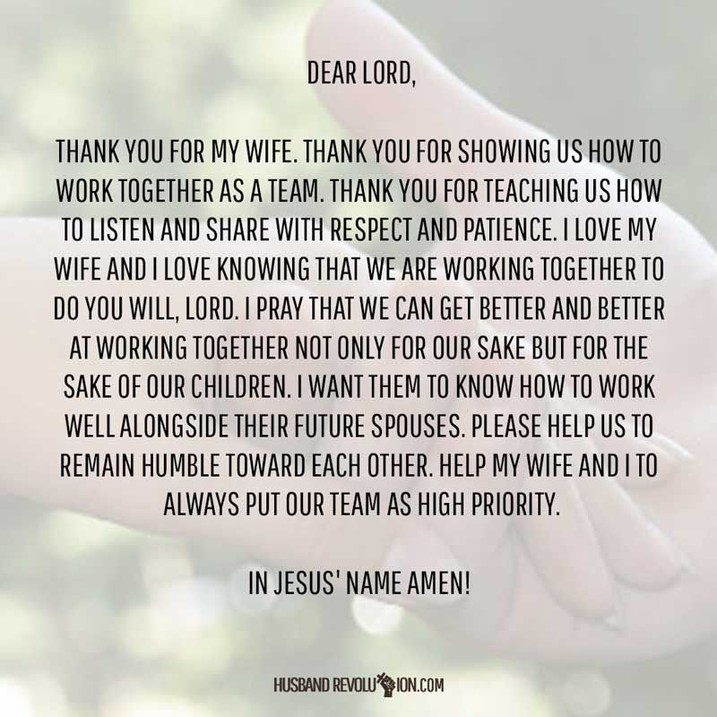 Prayer: Working Together | Prayers for my wife | Prayer for my wife