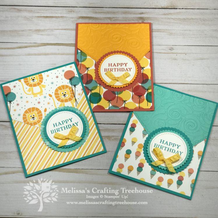Birthday Bonanza Stampin' Up! Cards DieCut Trick Paper