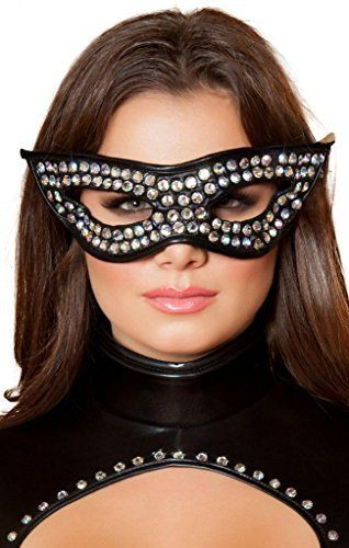 1e989b0e45c Sexy Rhinestone Cat Woman Eye Mask Halloween Accessory by Musotica Take for  me to see Sexy
