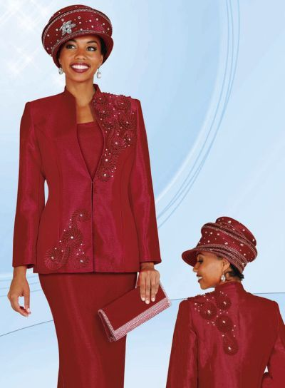 b0ac70eb349 BenMarc 3pc Womens Church Suit 4411 with Beaded Sutach - French Novelty