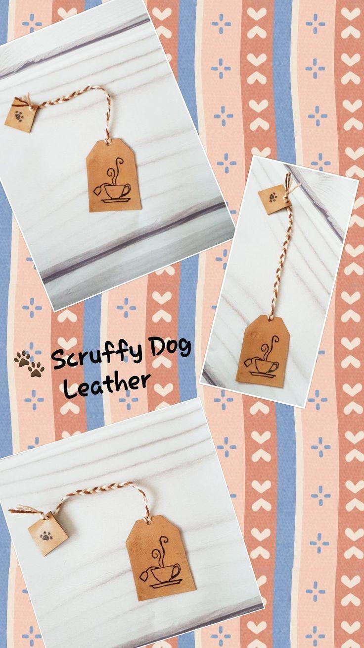 Leather Tea Bag Bookmark Teacup Leather bookmark