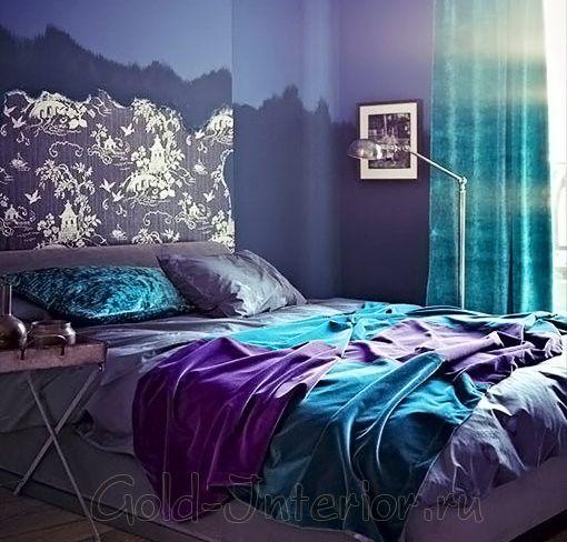 Room · Фиолетово бирюзовый дизайн · Purple Color SchemesBedroom ...