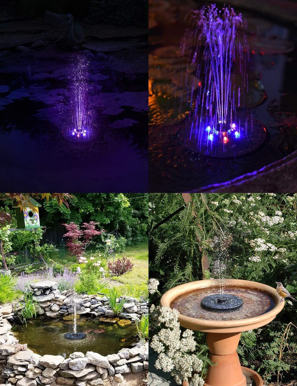 Solarbrunnen Mit Led Licht In 2020 Solarbrunnen Gartenbrunnen Solar