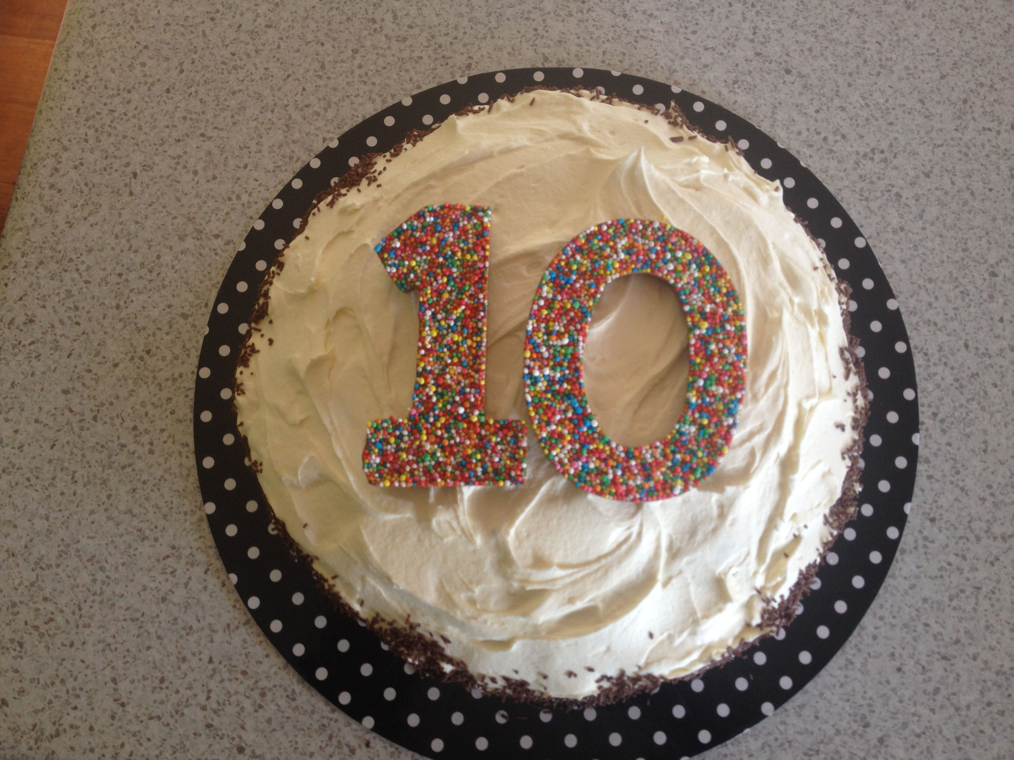 Buttercream With Chocolate Freckle Numbers