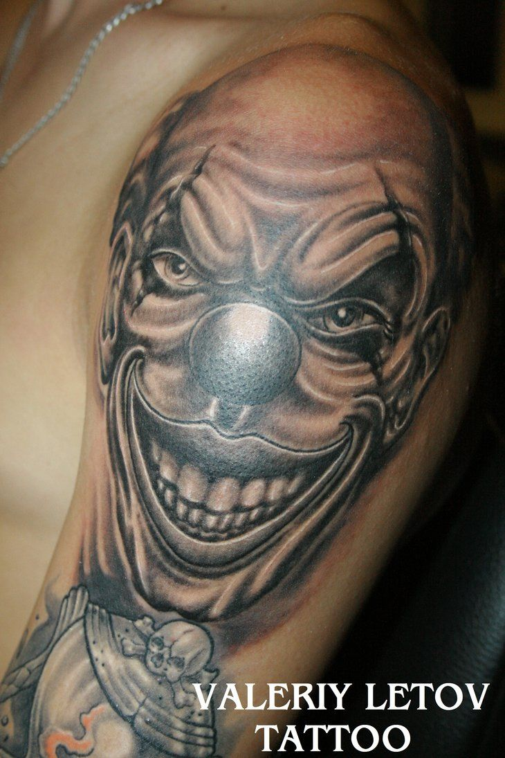 Clown tattoo by valeriyletov on deviantart art for Clown tattoos for men