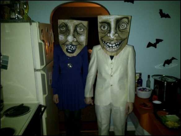 mask, paper bag, creepy, halloween, costume, art, diy   Art ...