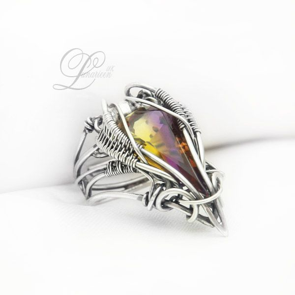 handmade: ring technique: wire-wrapping materials: silver, ametrine Facebook page Online shop Etsy shop