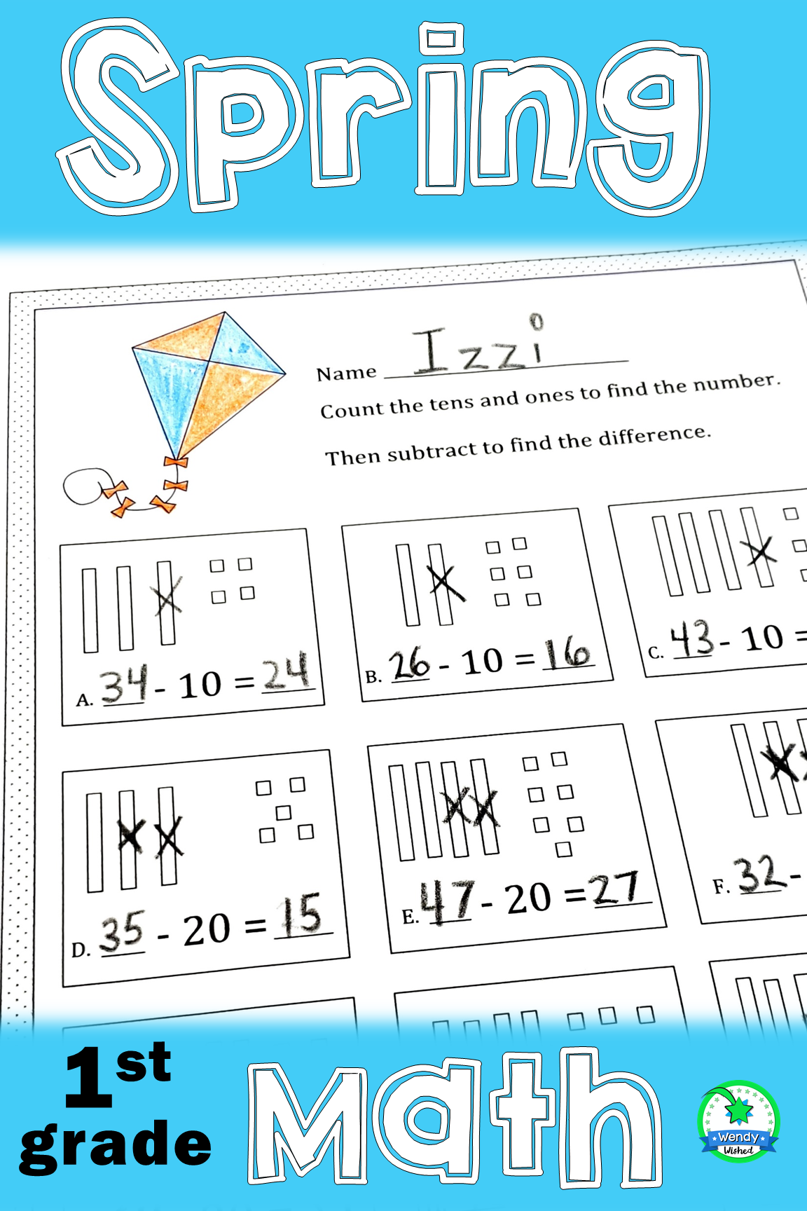 Spring Math Worksheets In