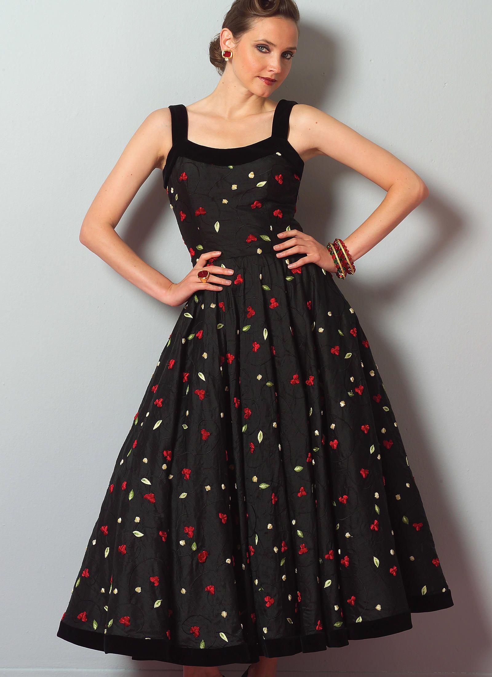 8f14249ba V2902 | Misses'/Misses' Petite Sleeveless Circular Dresses Sewing Pattern | Vogue  Patterns