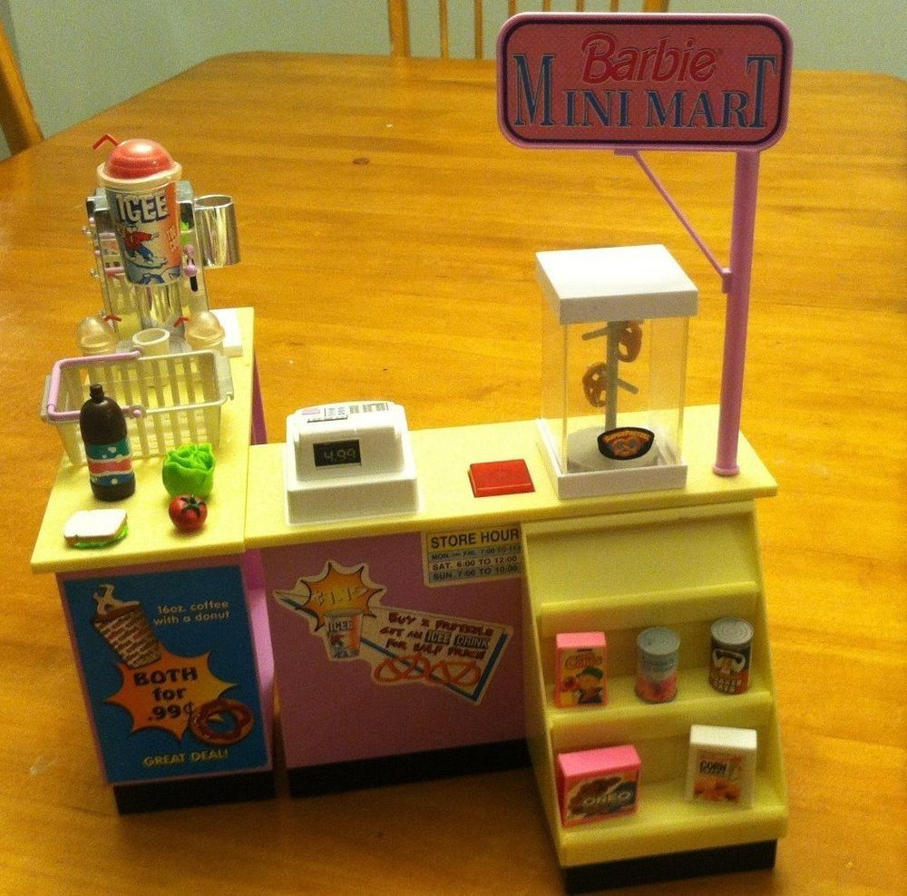 rare vintage barbie kitchen littles mini food mart play
