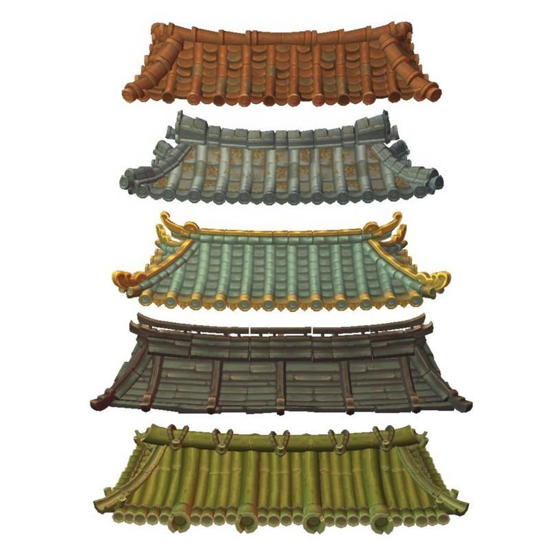 Asian Modular Roof Set Chinese Architecture Asian Architecture Japanese Buildings