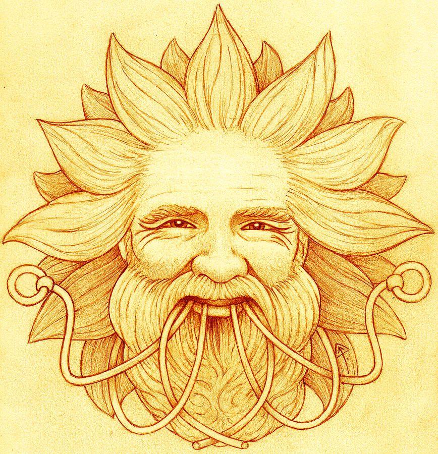 Ogma Sun-Faced by Yuri Leitch   Celtic gods, Celtic goddess names, Gods and  goddesses