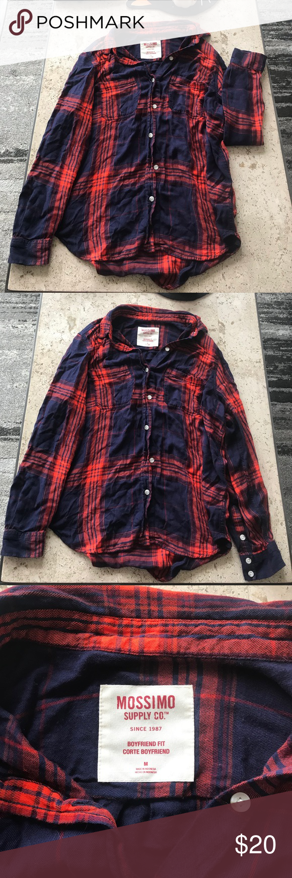 Red flannel 2018  Womenus plaid flannel shirt size medium in   My Posh Picks