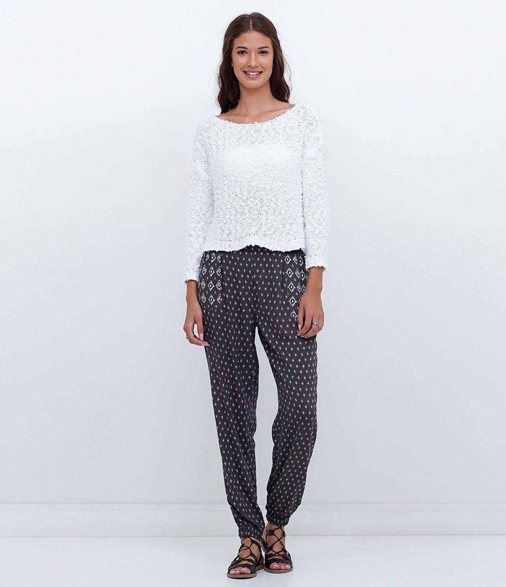 Calça feminina Modelo pijama Estampada Marca  Blue Steel Tecido  viscose  Composição  100% viscose Modelo veste tamanho  P COLEÇÃO INVERNO 2016 Veja  outras ... 87cae4973cf