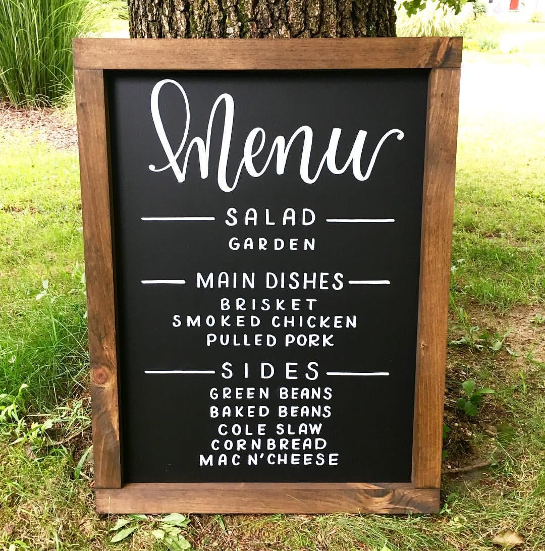 "Bbq Wedding Reception Food Ideas: Menu Sign For The ""I DO"" BBQ 🤤 In 2019"