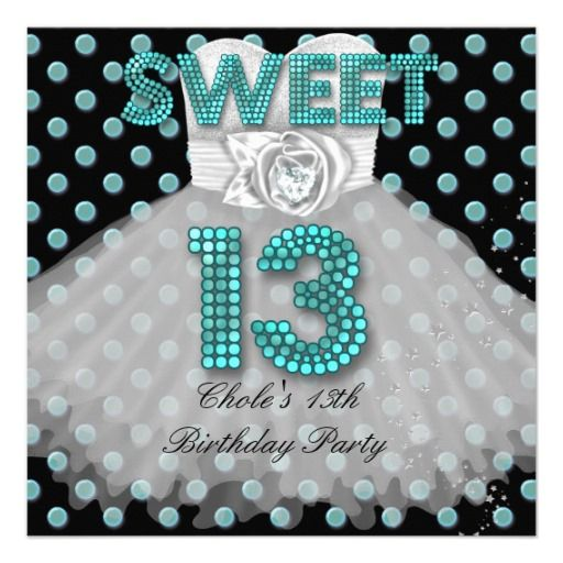Cool 13 Year Old Birthday Party Invitations