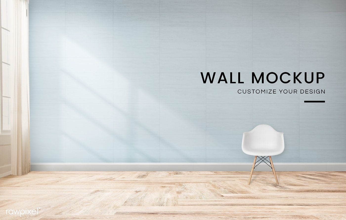 White Chair Against A Blue Wall Mockup Free Image By Rawpixel Com Blue Walls White Chair Blue Rooms