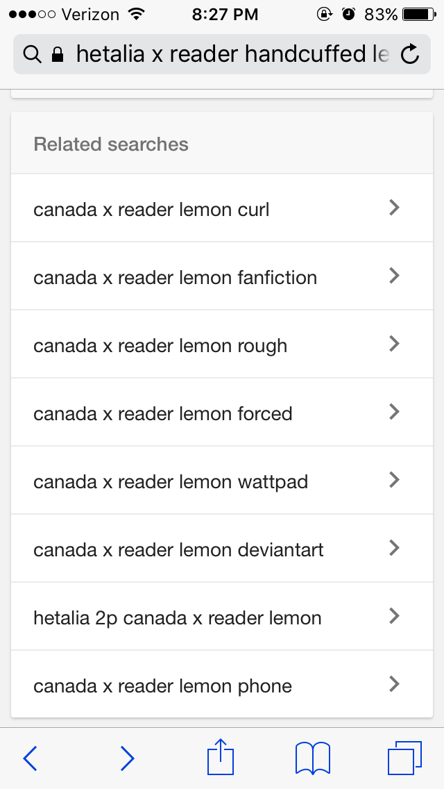 I'm just looking at lemons    and Canada