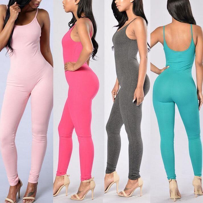 95980fbd33d5 New Women Casual Sleeveless Bodycon Romper Jumpsuit Club Bodysuit Long Pants   Unbranded  Jumpsuit