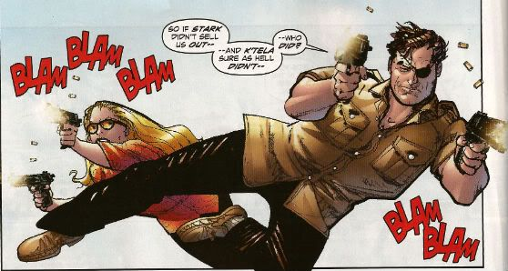 Nick Fury and the Blonde Phantom - Avengers 1959 (Howard Chaykin)