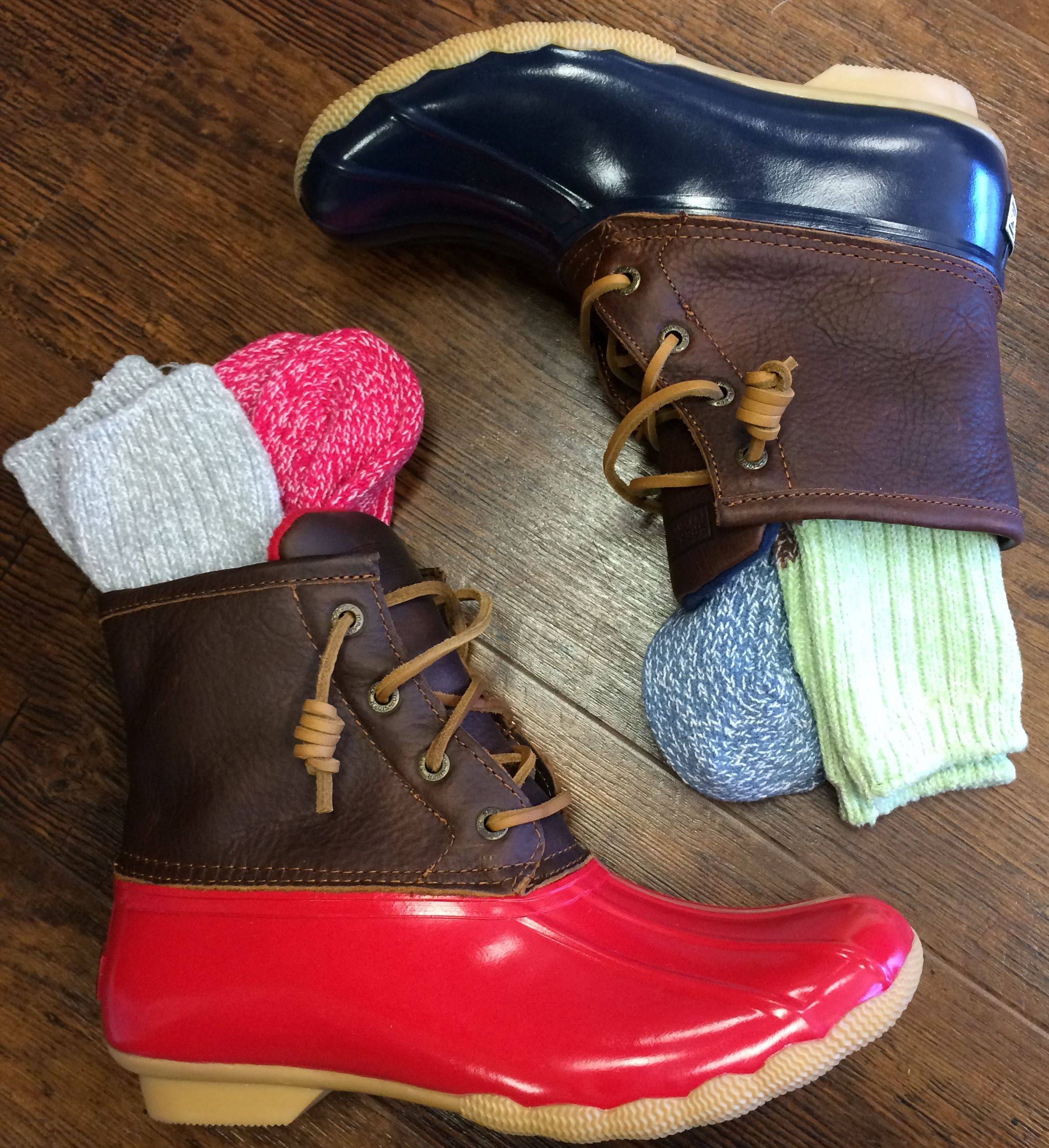 Sperry Topsider Saltwater Quot Duck Boots Paired With World S