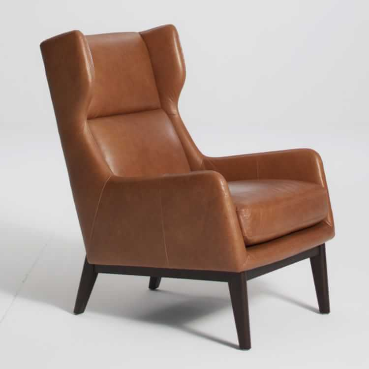 Ryder Leather Chair Leather chair, Chair, Living room