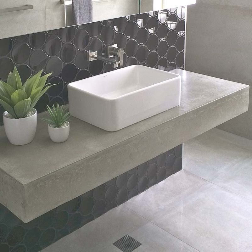 Polished Concrete Floating Vanity Polished Concrete Vanity