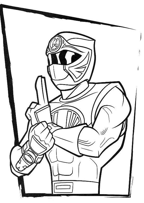 Red Ranger Ninja Storm Coloring Pages Coloring
