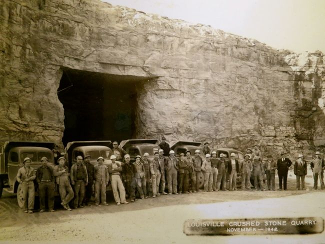 Louisville Crushed Stone mine opened in 1930 (Now Louisville Mega Cavern) off Poplar Level Rd, Louisville Ky 1942 - Google Search