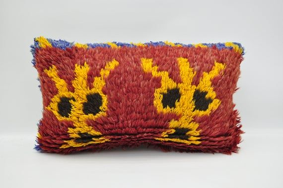 """kilim pillow 12""""x20"""" lumbar pillow anatolian kilim pillow sofa pillow cover tribal pillow handamade"""