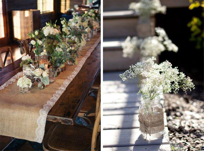 Burlap Table Decorating Ideas burlap wedding reception decor