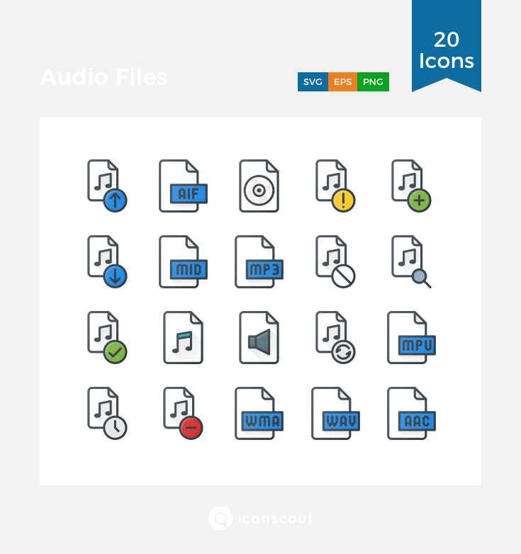 Download Audio Files Icon Pack Available In Svg Png Eps Ai Icon Fonts Icon Files Icon Pack Icon