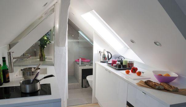 Studio Paris : un super 16 m2 sous les toits | Loi carrez, Sous les ...