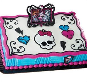 BaskinRobbins Monster High Frame Skullette Cake I love that