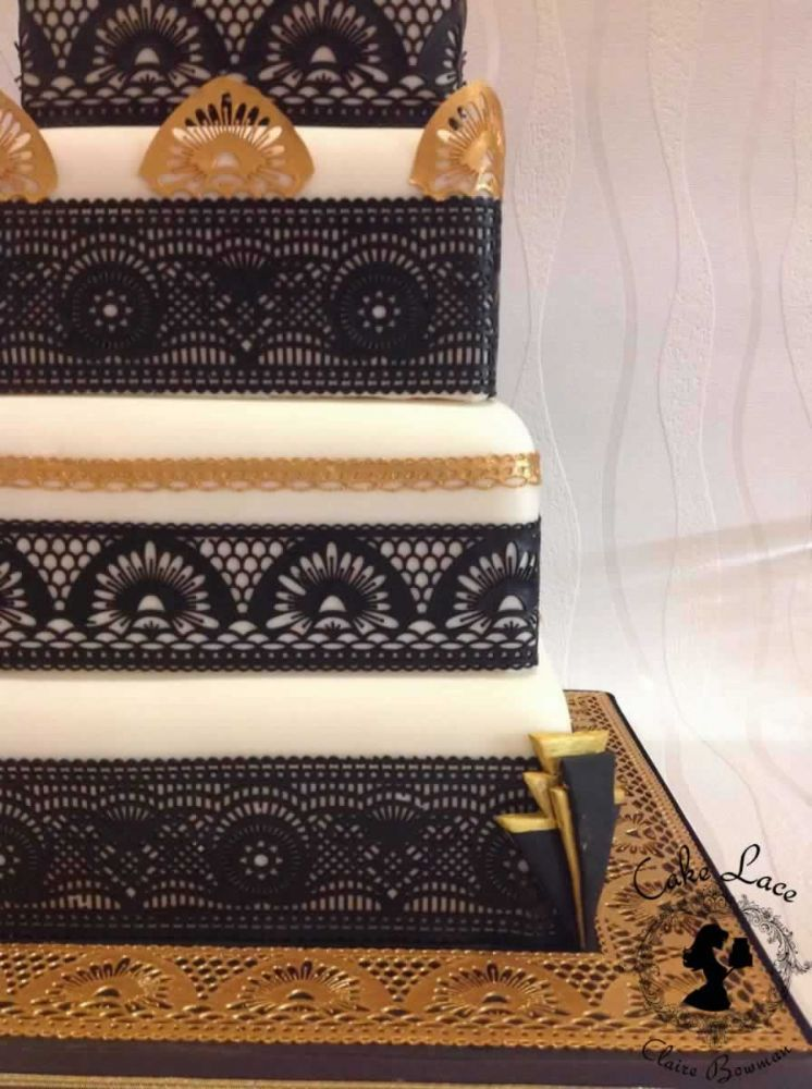 The Art Deco mat is a great place to start with your cake ...