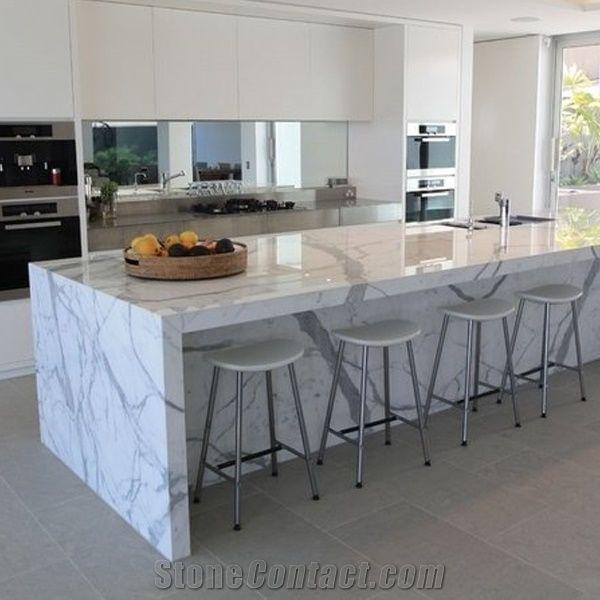 Calacatta Carrara White Marble Counter Top Kitchen Tops Natural