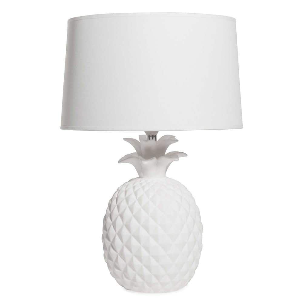 lampe ananas en cramique blanche maisons du monde