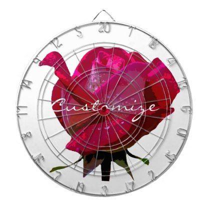 #bride - #big red rose Thunder_Cove Dart Board