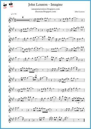 Imagine John Lennon Score And Playalong Sheet Music Free